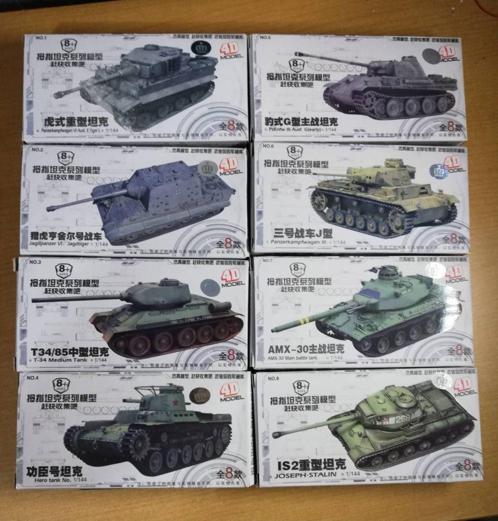 The 4D Model 8 kit set tanks